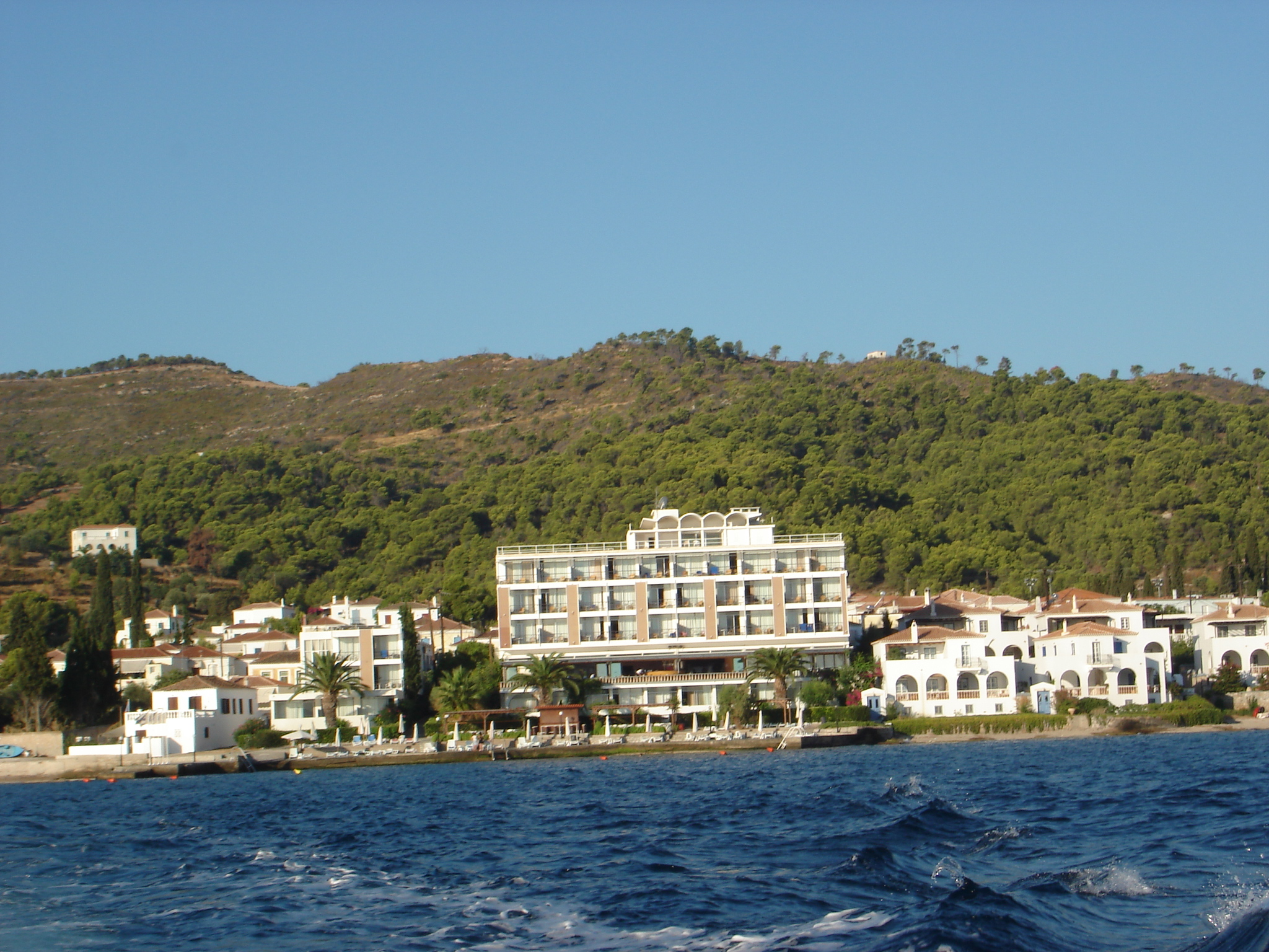 Spetses Hotel seen from the sea